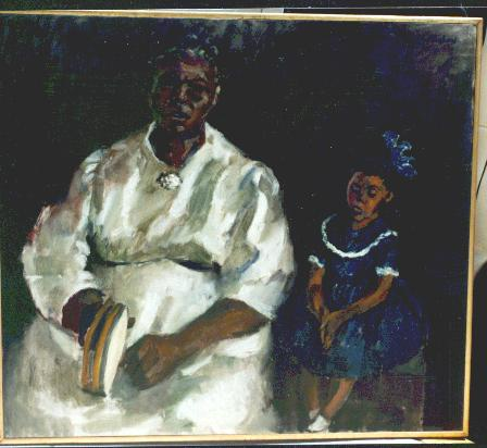 Portrait of Aunt Margaret & Child with Tambourine